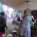 Литургия в палаточном лагере
